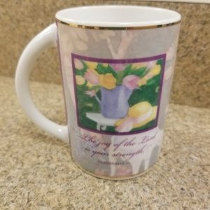 "Dayspring Coffee Cup 9kt Gold Rimmed "".the joy of."